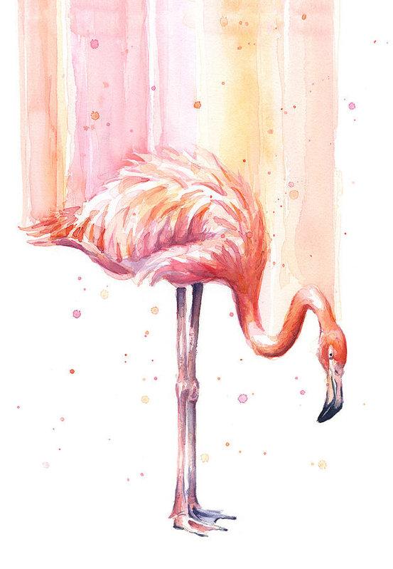 Olga Shvartsur - Pink Flamingo - Facing Right