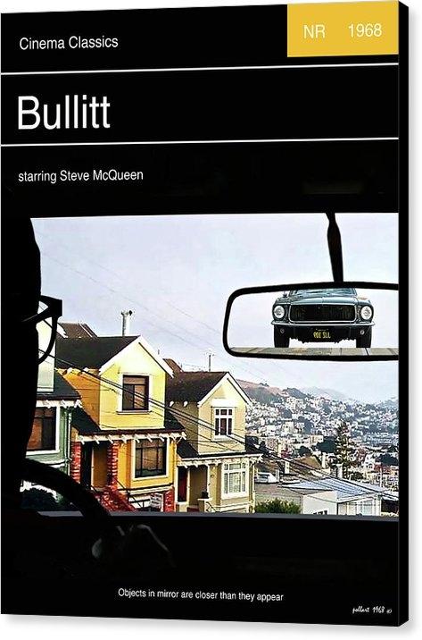 Thomas Pollart - Steve McQueen,  Bullitt movie poster