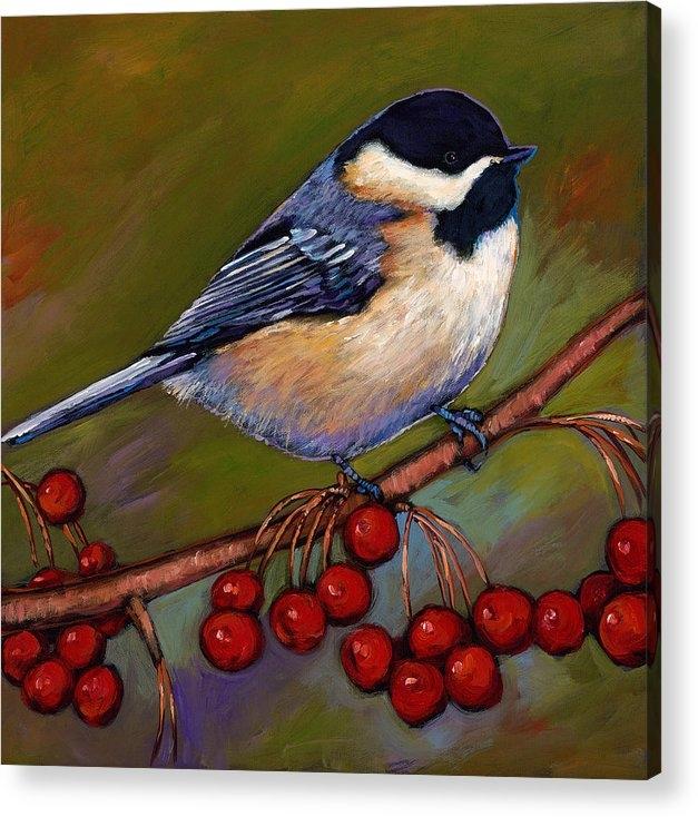Johnathan Harris - Cherries and Chickadee