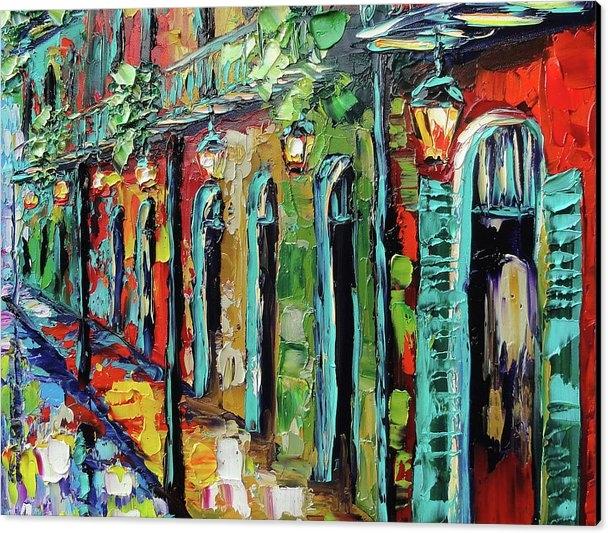 Beata Sasik - New Orleans Painting - Glowing Lanterns