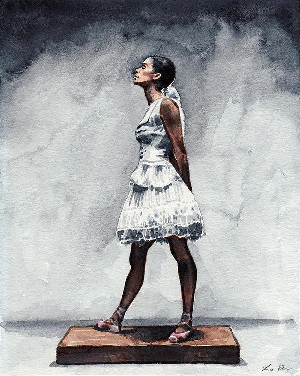 Laura Row - Misty Copeland Ballerina as the Little Dancer