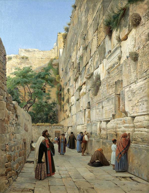 Gustav Bauernfeind - The Wailing Wall. Jerusalem