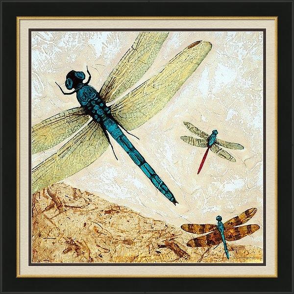Sharon Cummings - Zen Flight - Dragonfly Art By Sharon Cummings