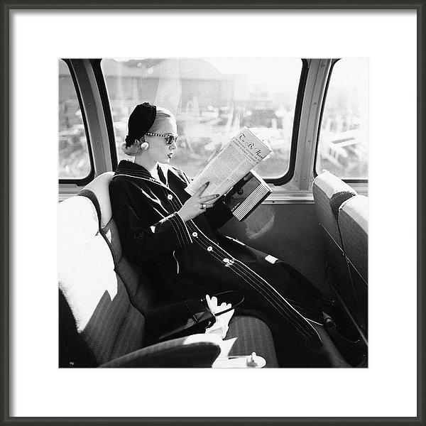 Leombruno-Bodi - Mrs. William McManus Reading On A Train