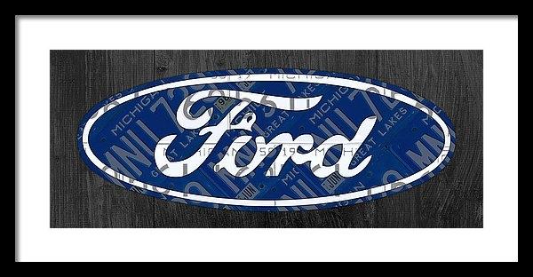 Design Turnpike - Ford Motor Company Retro Logo License Plate Art