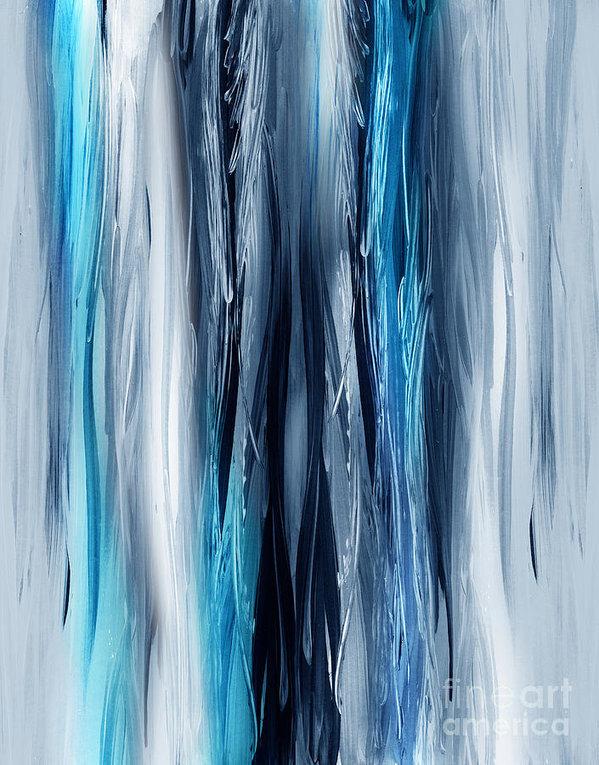Irina Sztukowski - Abstract Waterfall Turquoise Flow