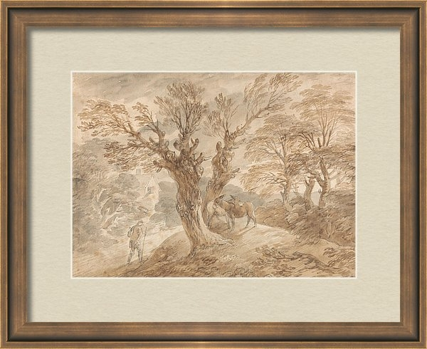 Thomas Gainsborough - Wooded Landscape with Peasant and Donkeys