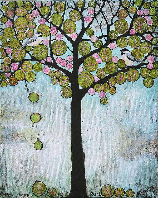 Blenda Studio - Blue Chickadee Tree