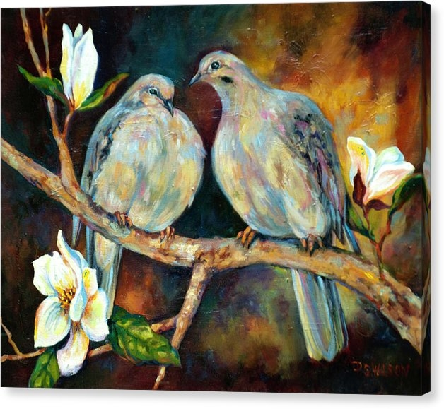 Peggy Wilson - Doves and Magnolia