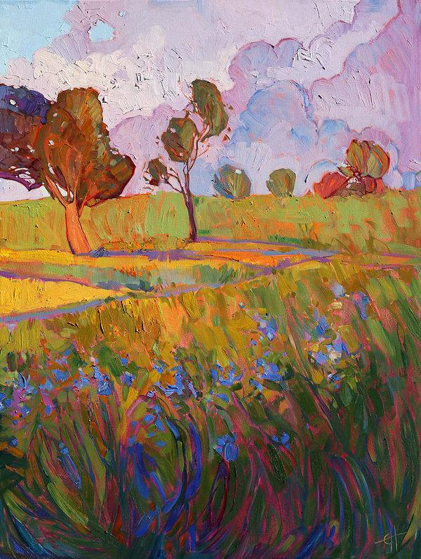 Erin Hanson - Colors of Brenham Triptych - Right Panel