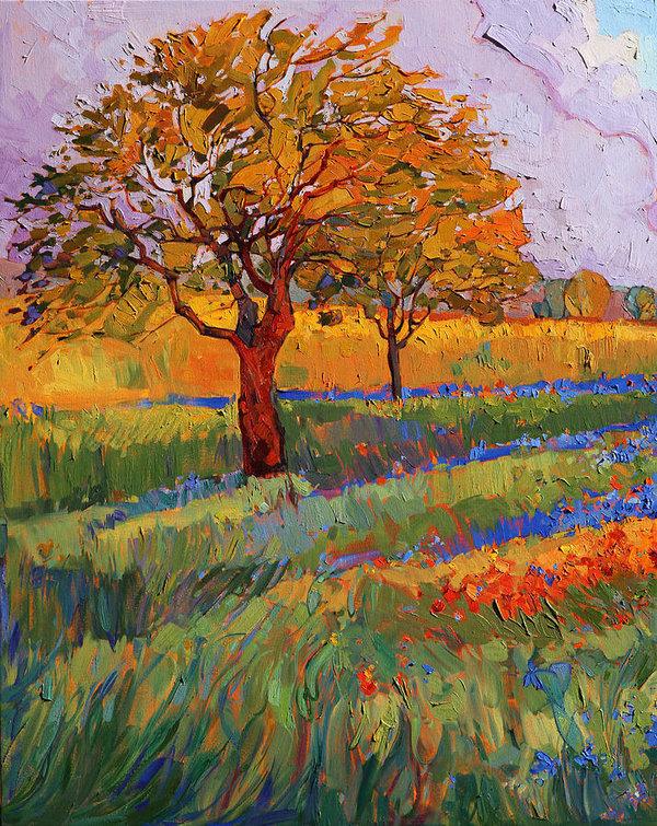 Erin Hanson - Colors of Brenham Triptych - Left Panel
