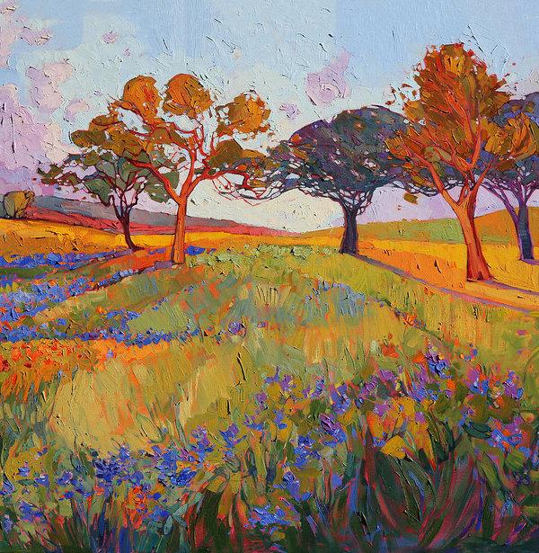 Erin Hanson - Colors of Brenham Triptych - Center Panel