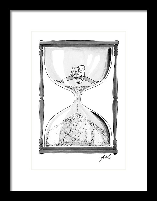 Tom Toro - A Man Stands In The Top Half Of An Hourglass
