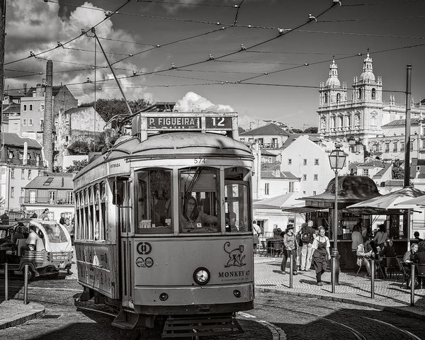 Joan Carroll - Lisbon Tram BW