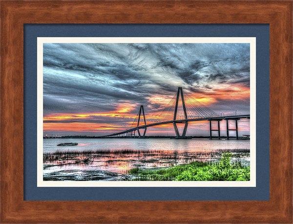 Dale Powell - Arthur Ravenel Bridge Stormy Skies