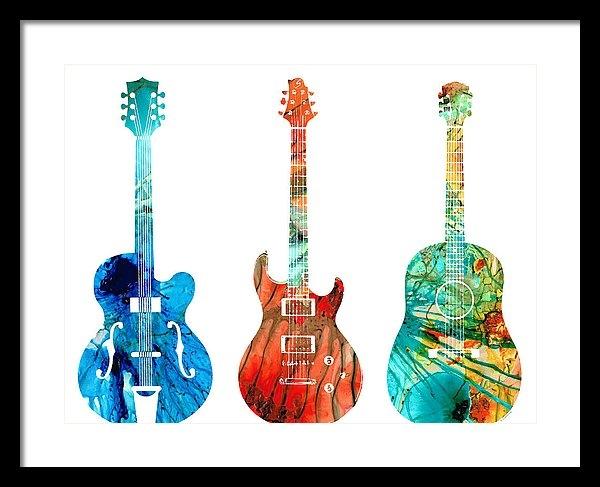 Sharon Cummings - Abstract Guitars by Sharon Cummings