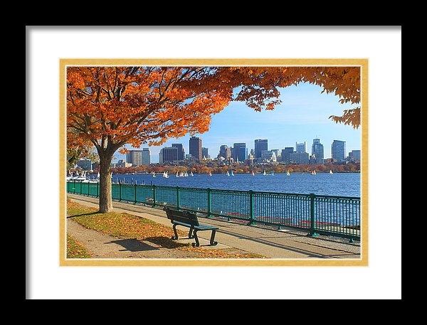 John Burk - Boston Charles River in Autumn