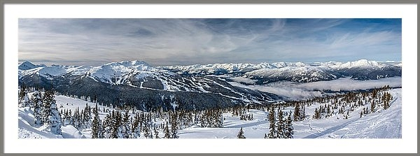 Pierre Leclerc Photography - Whistler mountain peak view from Blackcomb