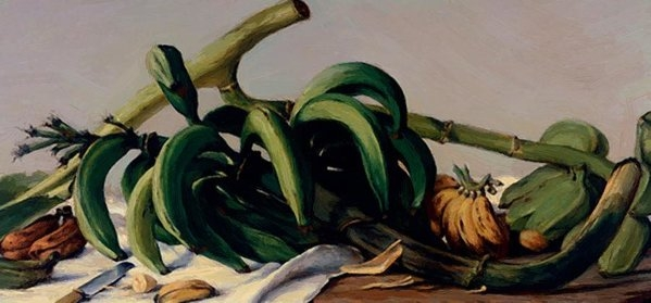 Oller Francisco - Still Life With Plantains And Bananas 1893