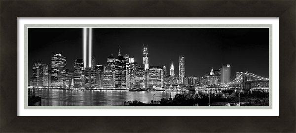 Jon Holiday - New York City BW Tribute in Lights and Lower Manhattan at Night Black and White NYC