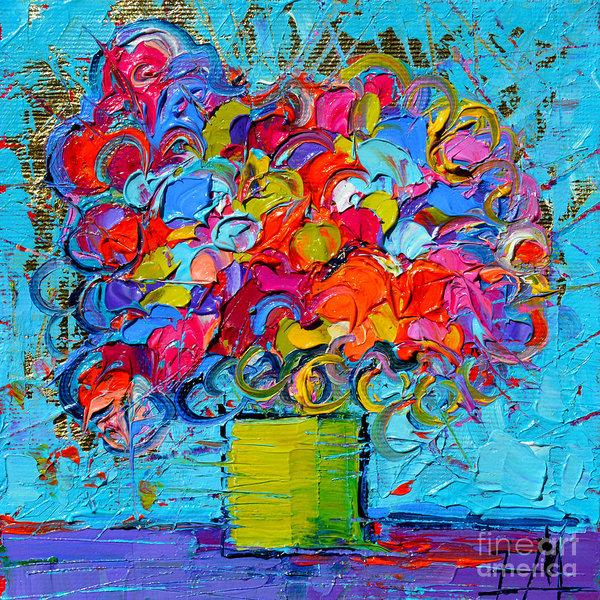 Mona Edulesco - Floral Miniature - Abstract 0415