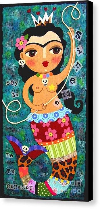LuLu Mypinkturtle - Frida Kahlo Mermaid Queen