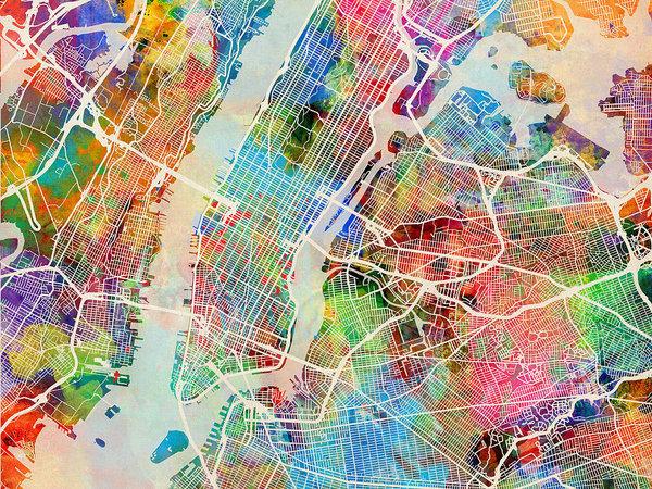 Michael Tompsett - New York City Street Map