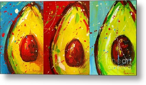 Patricia Awapara - Crazy Avocados triptych