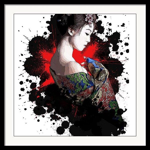 Chris Skourogiannis - Geisha ink splatter