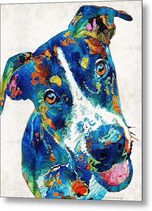 Sharon Cummings - Colorful Dog Art - Happy Go Lucky - By Sharon Cummings