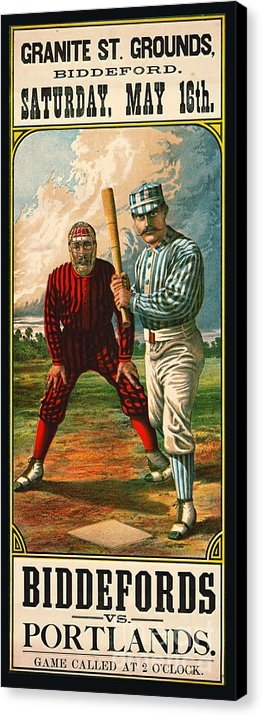 Padre Art - Retro Baseball Game Ad 1885 b