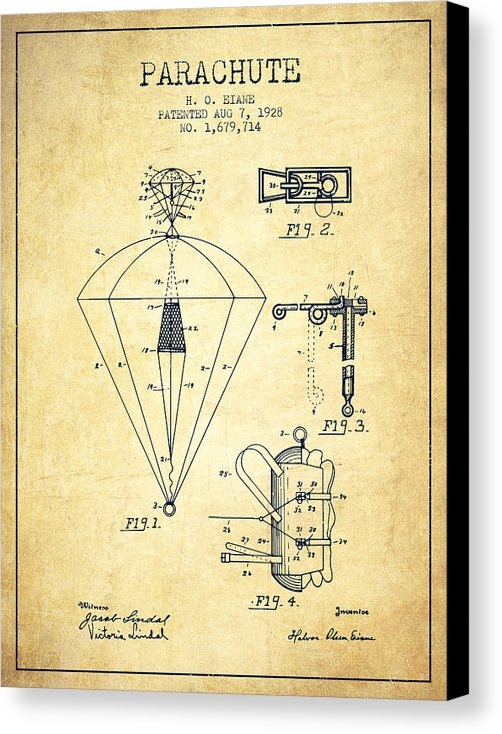 Aged Pixel - Parachute patent from 1928 - Vintage