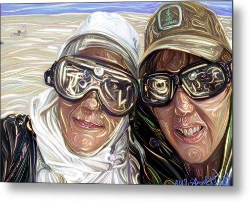 Angela Weddle - Mykelle and Kitt at Burning Man