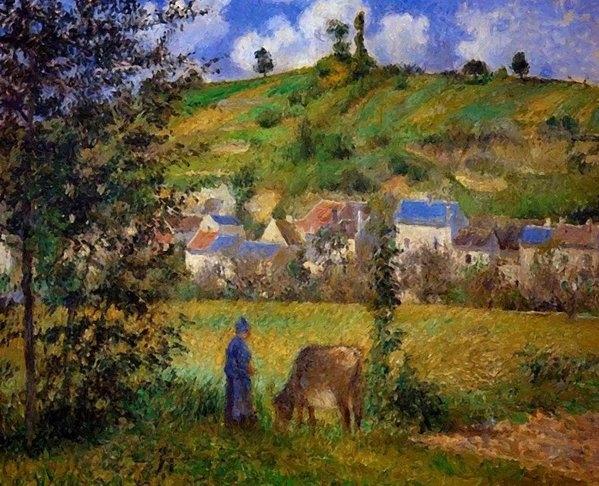 Pissarro Camille - Chaponval Landscape