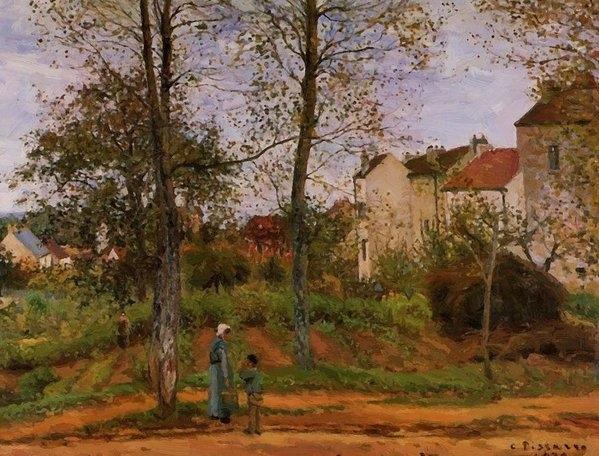 Pissarro Camille - Landscape Near Louveciennes 2 1870