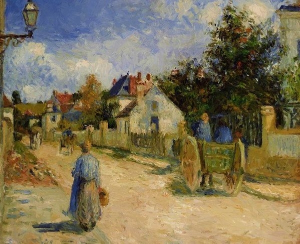 Pissarro Camille - A Street In Pontoise 1879