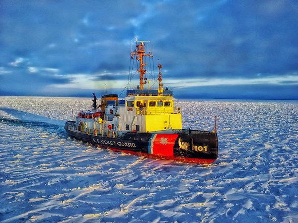 Daniel Michelson - Cutting Through The Ice On Lake Michigan