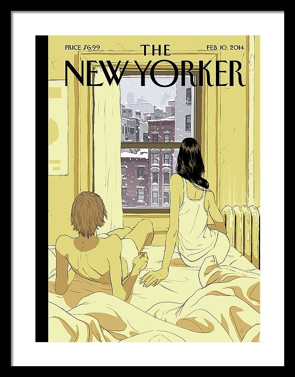 Tomer Hanuka - A Couple Stays In Bed While It Snows In The City