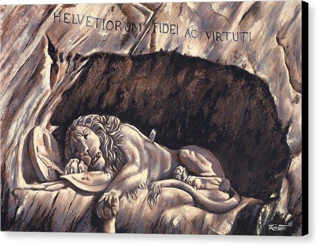 Travis Knight - Lion Painting