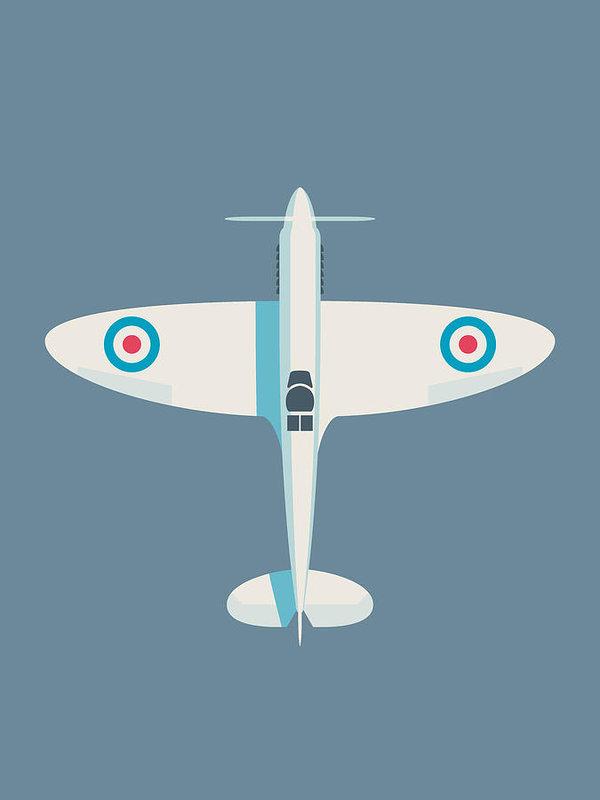 Ivan Krpan - Supermarine Spitfire WWII RAF Royal Air Force Fighter Aircraft - Slate