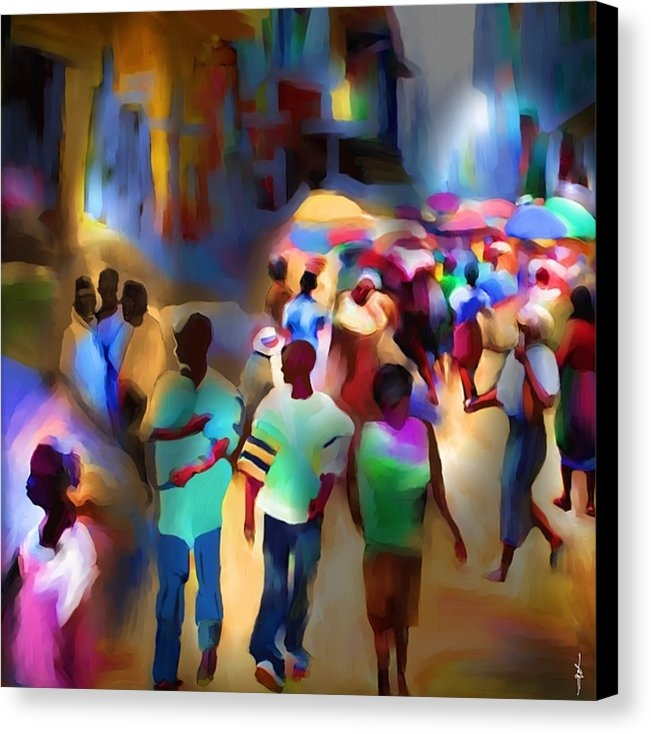 Bob Salo - Marketplace At Night Cap Haitien