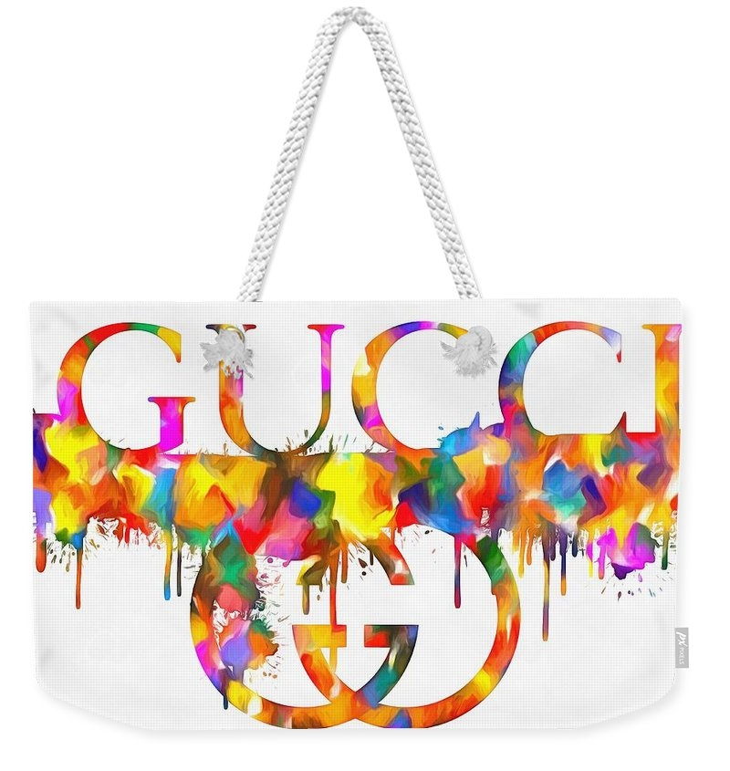 Colorful Gucci Paint Splatter by Dan Sproul