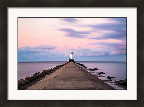 Ludington North Breakwater Light Sunrise by Adam Romanowicz