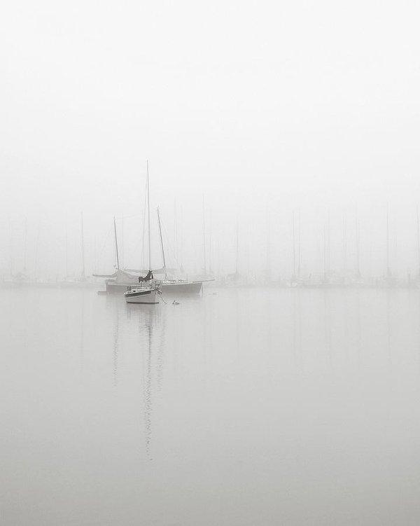 Nicholas Bell - Sailboats in Fog