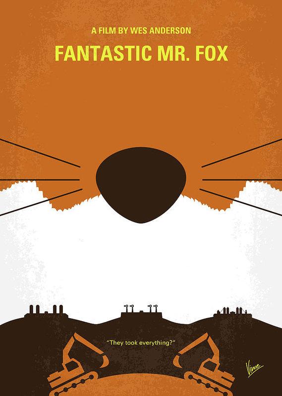 Chungkong Art - No673 My Fantastic Mr Fox minimal movie poster