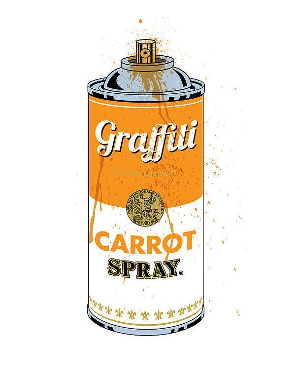Gary Grayson - Graffiti Carrot Spray Can