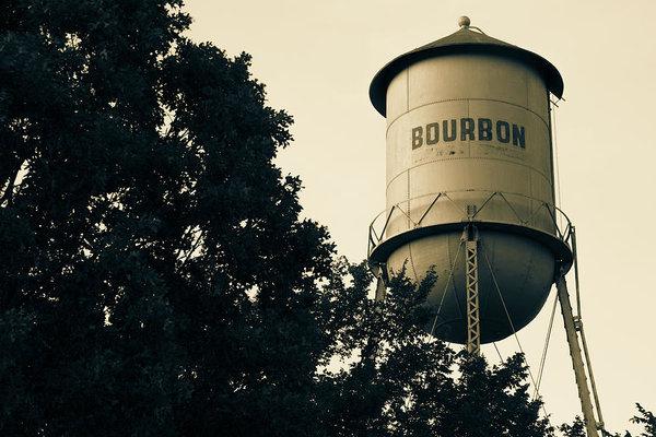 Gregory Ballos - Bourbon Water Tower Pub Art - Sepia Edition