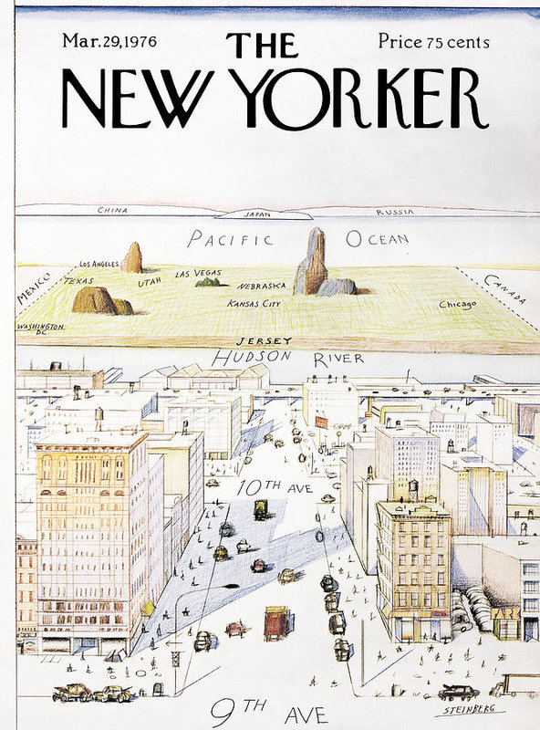 Saul Steinberg - View From 9th Avenue