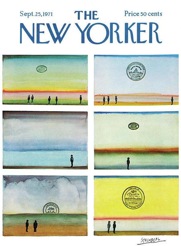 Saul Steinberg - New Yorker September 25th, 1971