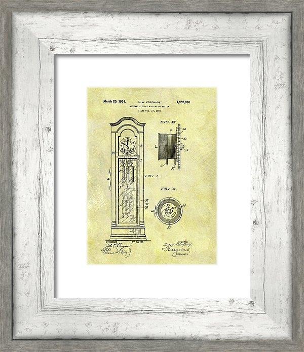 Dan Sproul - 1934 Grandfather Clock Patent